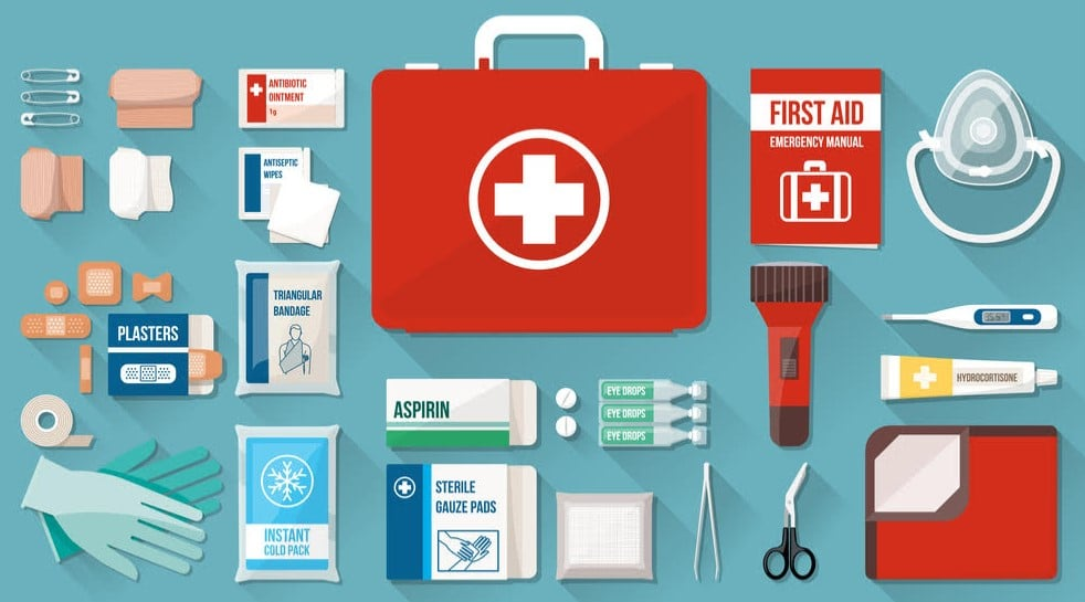 GET YOUR FIRST-AID KIT READY