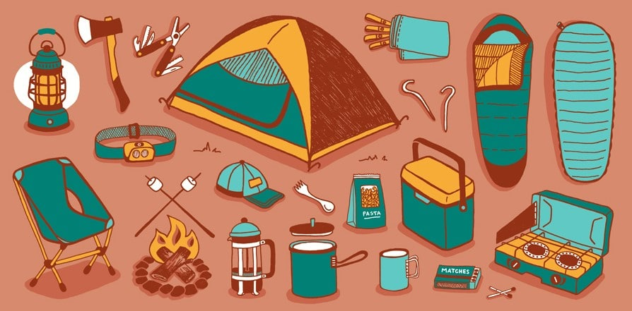 backyard camping CHECKLIST