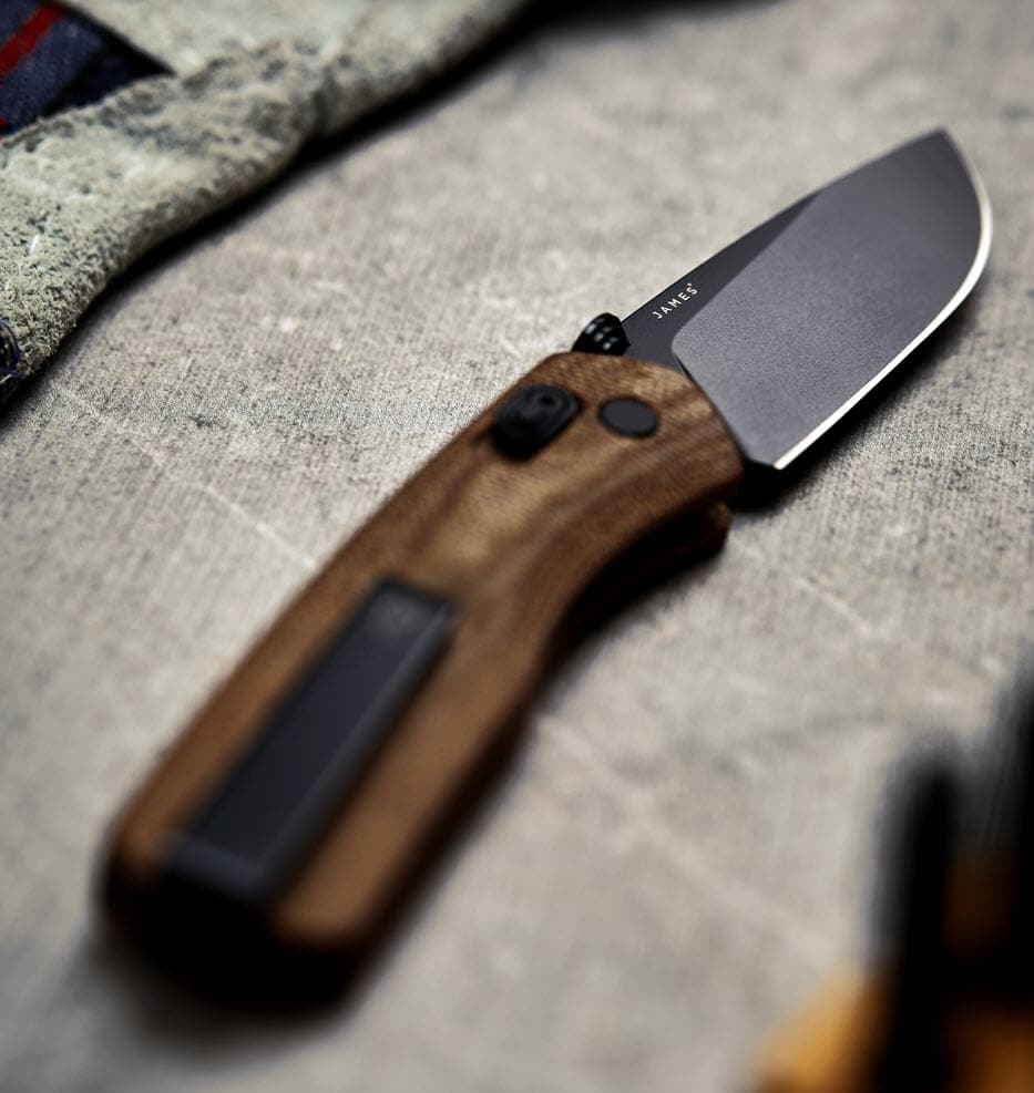 edc curved edge knife