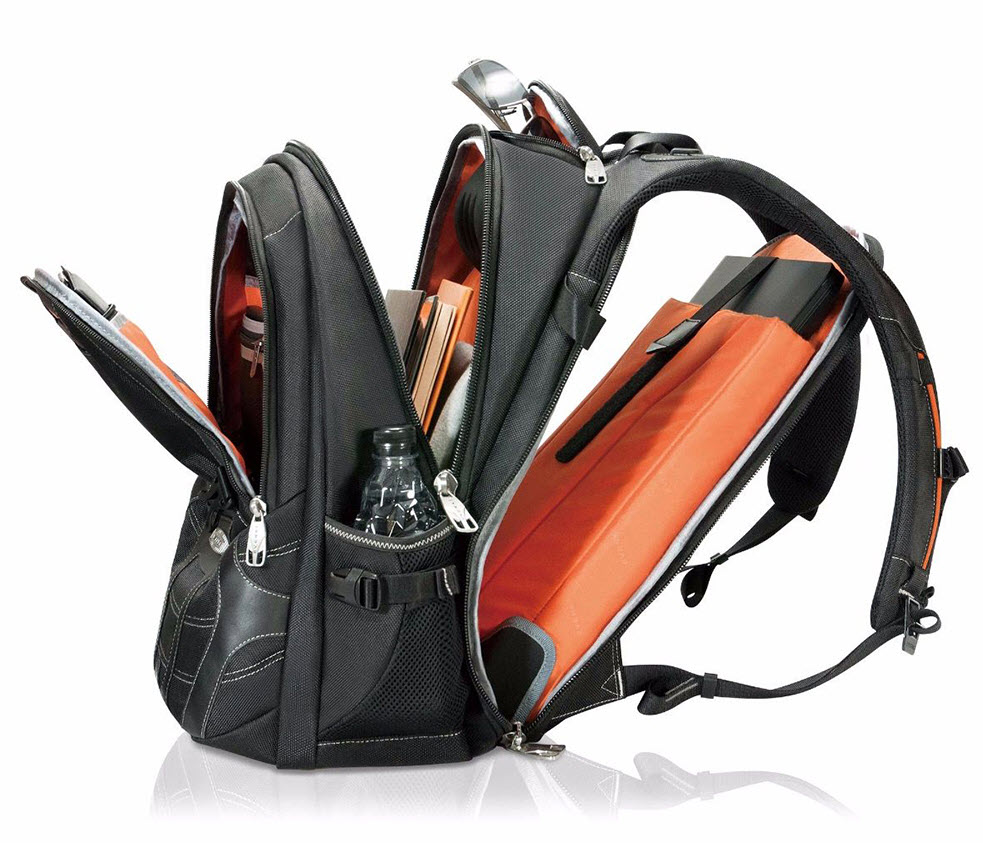 well divided travel backpack with laptop sleeve