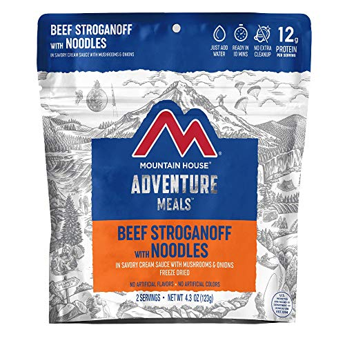 Mountain House Beef Stroganoff | Freeze Dried Backpacking & Camping Food
