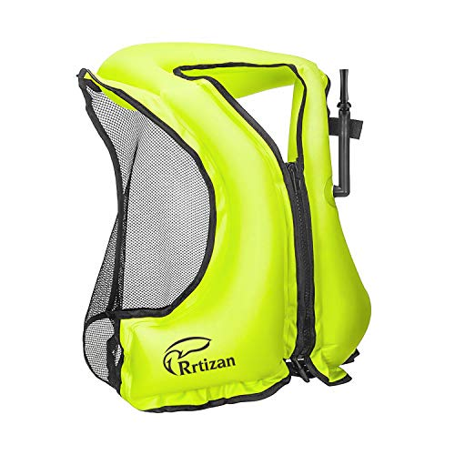 Rrtizan Adult Inflatable Swim Vest Life Jacket