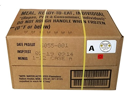 Western Frontier MRE 2019 Inspection Date Case, 12 Meals With 2019 Inspection Date