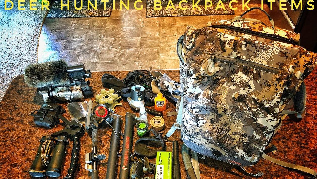 deer hunting backpack items