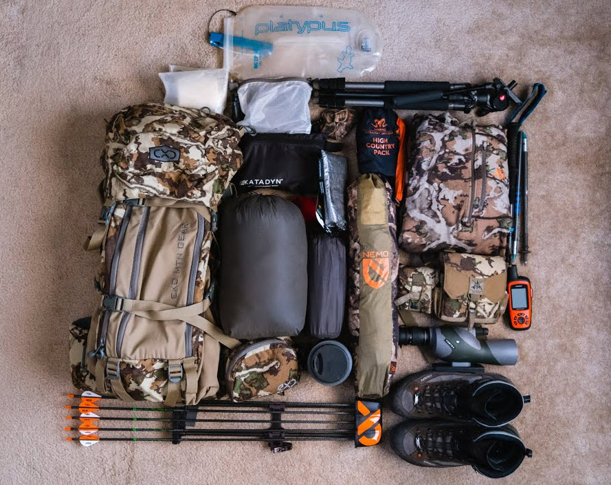 gear pack list for backcountry hunting