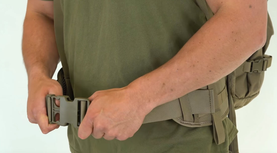 fitting the hip belt on hunting backpack