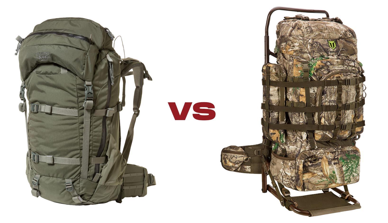 internal vs external frame hunting backpack