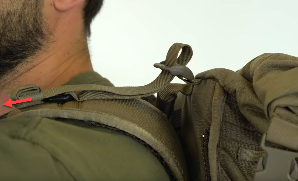 shoulder strap tightening