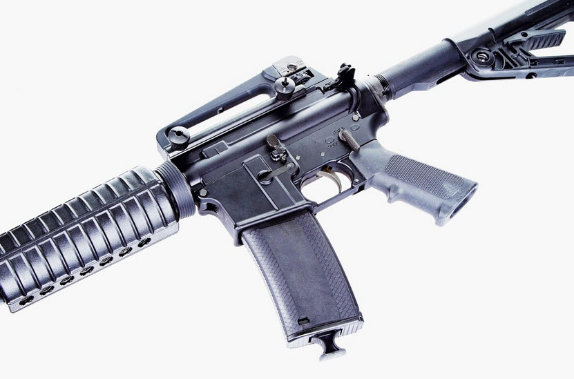 close view of AR-15 Rifle