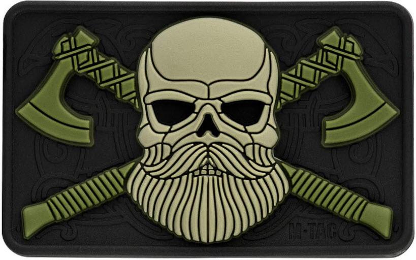 bearded skull custom patch